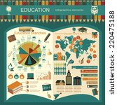 education school infographics.... | Shutterstock .eps vector #220475188