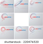 set of abstract swirl wave... | Shutterstock .eps vector #220476520