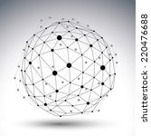3d vector abstract design... | Shutterstock .eps vector #220476688