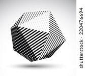 abstract 3d spherical vector... | Shutterstock .eps vector #220476694