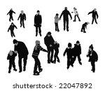 people ice skating  vector... | Shutterstock .eps vector #22047892