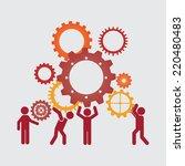 teamwork graphic design  ... | Shutterstock .eps vector #220480483