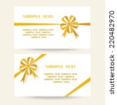 vector set of gift banner with... | Shutterstock .eps vector #220482970