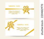 vector set of gift banner with... | Shutterstock .eps vector #220482970