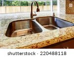 kitchen cabinet with double... | Shutterstock . vector #220488118