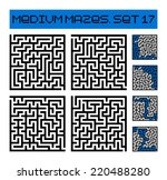 medium mazes set 17 | Shutterstock .eps vector #220488280