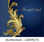 Gold Blue Festive Card