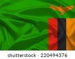 zambia flag | Shutterstock . vector #220494376
