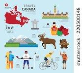 travel concept canada landmark... | Shutterstock .eps vector #220500148