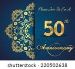 50 year anniversary celebration ... | Shutterstock .eps vector #220502638