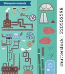set steampunk elements. create... | Shutterstock .eps vector #220503598