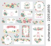 elegant cards with floral... | Shutterstock . vector #220518550