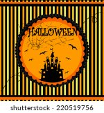 halloween vector card... | Shutterstock .eps vector #220519756
