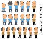 bald man | Shutterstock .eps vector #220521070