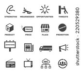 marketing and advertising icons ... | Shutterstock .eps vector #220529380