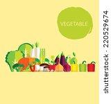 vegetables vector illustration | Shutterstock .eps vector #220529674