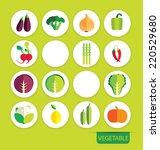 vegetables icons vector | Shutterstock .eps vector #220529680