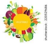 vegetables vector illustration | Shutterstock .eps vector #220529686