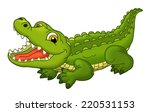 cartoon animal crocodile on... | Shutterstock . vector #220531153