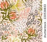 vector floral seamless pattern... | Shutterstock .eps vector #220538833