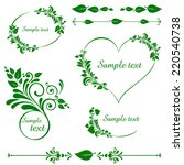 Green Leaves Set. Collection O...