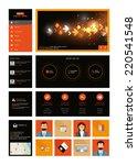 one page website dark design...
