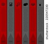 design bookmark template.... | Shutterstock .eps vector #220547230