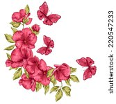 wedding card. flowers and... | Shutterstock .eps vector #220547233