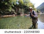 closeup of fisherman fly... | Shutterstock . vector #220548580