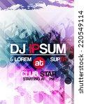 retro abstract party invitation ... | Shutterstock .eps vector #220549114