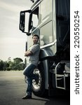 Small photo of Portrait of a truck driver