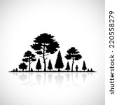 forest silhouette icon. | Shutterstock .eps vector #220558279