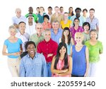 large multi ethnic group of... | Shutterstock . vector #220559140