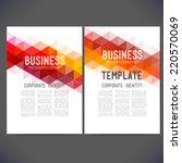 abstract vector template design ... | Shutterstock .eps vector #220570069