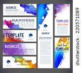 eight abstract design banners... | Shutterstock .eps vector #220571089
