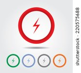 bolt sign icon   electric sign | Shutterstock .eps vector #220575688