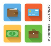 flat money icons. vector... | Shutterstock .eps vector #220578250