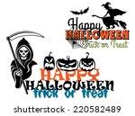 eerie happy halloween posters...   Shutterstock .eps vector #220582489