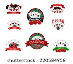 casino and gambling badges or...