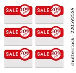 sale tag template   various... | Shutterstock . vector #220592539