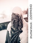 Detail Of Snow Covered Woman...