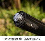 the ends of the wires were... | Shutterstock . vector #220598149
