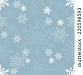 seamless winter pattern on... | Shutterstock .eps vector #220598593