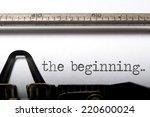 the beginning  | Shutterstock . vector #220600024