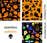 set of seamless black  multi... | Shutterstock .eps vector #220602793