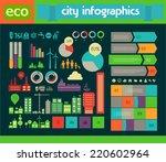 flat style design eco city...