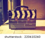 production clap bag vintage... | Shutterstock . vector #220610260
