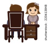 interview girl candidate  ... | Shutterstock .eps vector #220613848