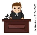 judge   vector character... | Shutterstock .eps vector #220613869