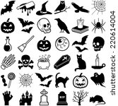 halloween icon collection  ... | Shutterstock .eps vector #220614004